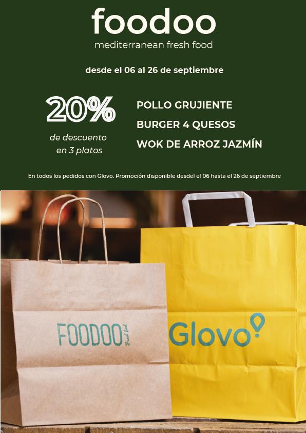 promoción Glovo - Foodoo